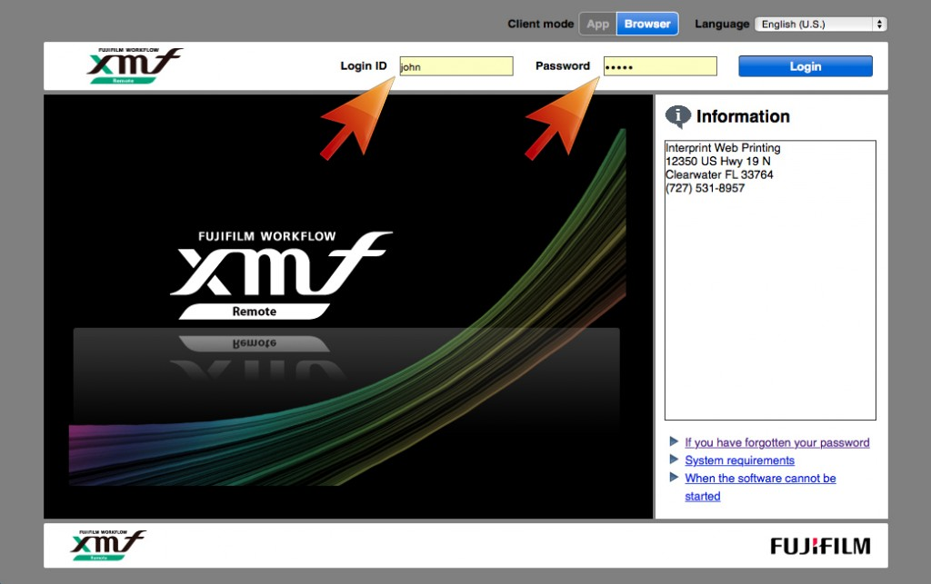 xmf screen 1 with arrows